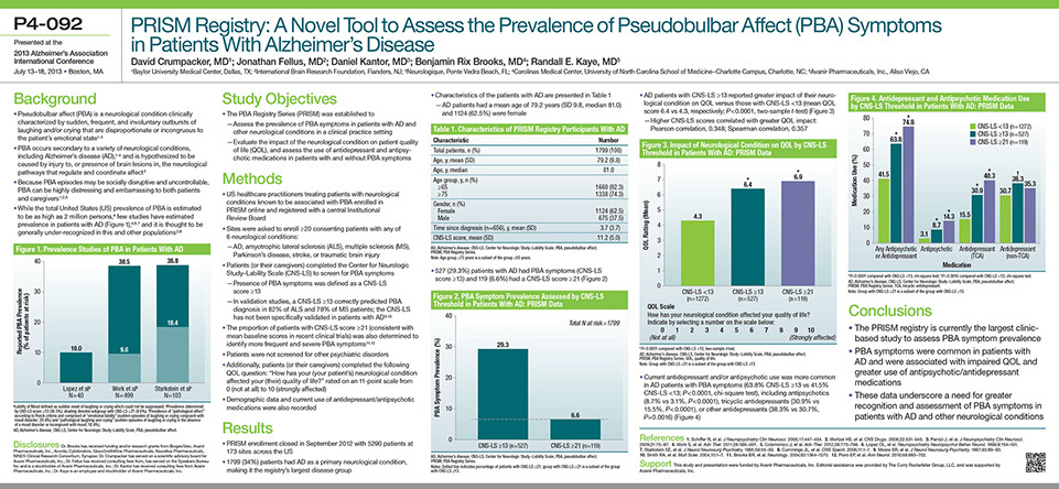 Avanir 2013 AAIC Scientific Poster P4-092