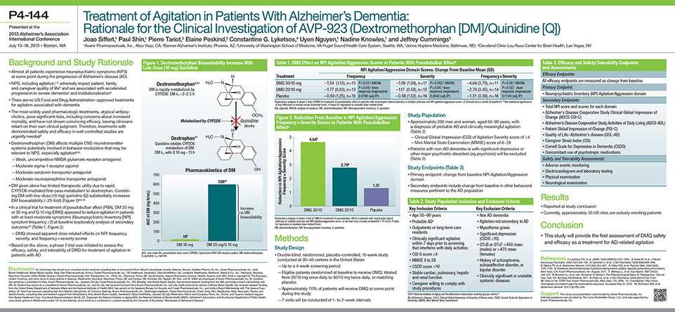 Avanir 2013 AAIC Scientific Poster P4-144